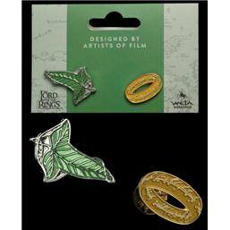 Elfen Leaf & One Ring Collectors Pins 2-Pack