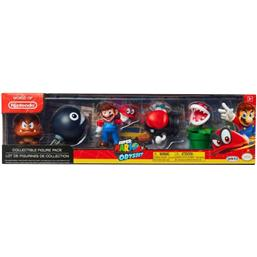 World of Nintendo Mini Figure 5-Pack Super Mario Odyssey Theme 6 cm