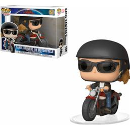 Captain Marvel: Carol Danvers on Motorcycle POP! Rides Vinyl Figur (#57)