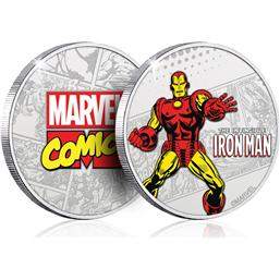 Iron Man: Marvel Collectable Coin Iron Man (silver plated)