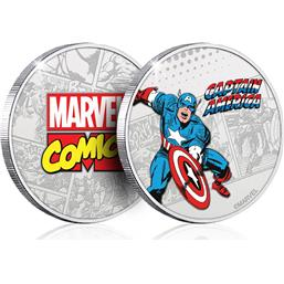 Captain America: Marvel Collectable Coin Captain America (silver plated)