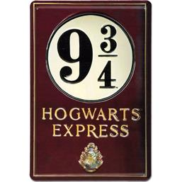 Harry Potter: Platform 9 3/4 3D Tin Skilt  20 x 30 cm