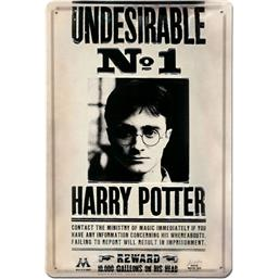 Harry Potter: Undesirable No 1 3D Tin Skilt  20 x 30 cm