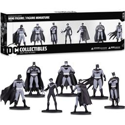 Batman Black & White PVC Minifigure 7-Pack Box Set #1 10 cm