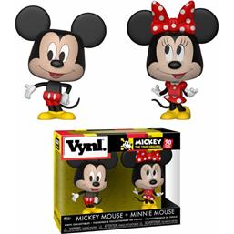 Mickey Mouse & Minnie Mouse Disney VYNL Vinyl Figurer 2-Pak