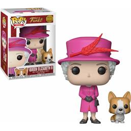 Diverse: Queen Elizabeth II With Dog POP! Royal Family Vinyl Figur (#01)