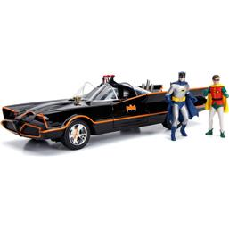Batman Diecast Model 1/18 1966 Batmobile with Light-Up Functions and Figures