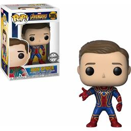 Iron Spider Unmasked POP! Movies Vinyl Figur (#305)