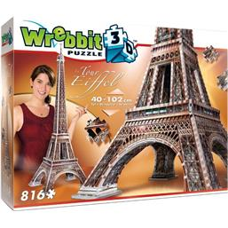 Byer og Bygninger: Wrebbit The Classics Collection 3D Puzzle La Tour Eiffel