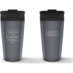 Game Of Thrones: Travel Mug I Drink And I Know Things