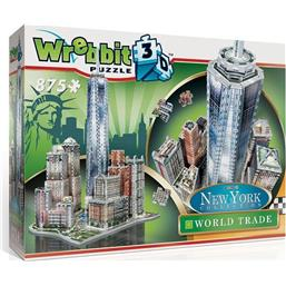 Byer og Bygninger: Wrebbit New York Collection 3D Puzzle World Trade