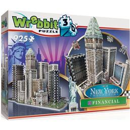 Byer og Bygninger: Wrebbit New York Collection 3D Puzzle Financial