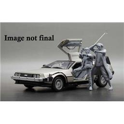 DeLorean 1983 with Marty McFly Figure Diecast Model 1/18