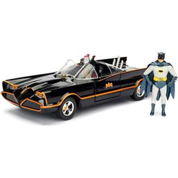 Batman Build N' Collect Diecast Kit 1/24 1966 Classic TV Series Batmobile with figures
