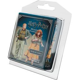 Harry Potter Miniature 35 mm 2-Pack Molly & Arthur Weasley *English Version*