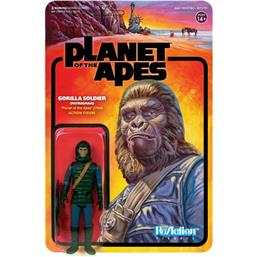 Planet of the Apes: Planet of the Apes ReAction Action Figure Gorilla Soldier (Patrolman) 10 cm