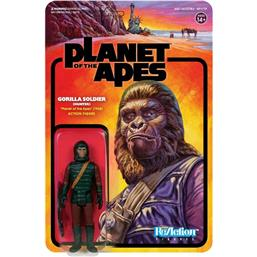 Planet of the Apes: Planet of the Apes ReAction Action Figure Gorilla Soldier (Hunter) 10 cm
