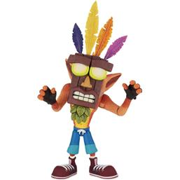 Crash Bandicoot: Crash Bandicoot Ultra Deluxe Action Figure Crash with Aku Aku Mask 14 cm
