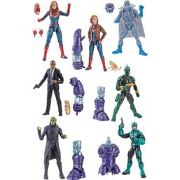 Marvel Legends Series Action Figures 15 cm Captain Marvel 2019 Wave 1 7+1 pack
