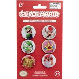 Super Mario Bros.: Super Mario Badges 6-Pack