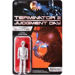 Terminator 2 ReAction Action Figure T1000 Officer with Hole In The Head Super7 Exclusive 10 cm