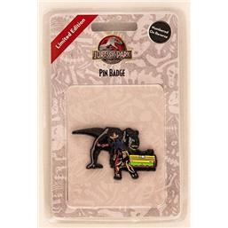 Alan & T-Rex Pin Badge