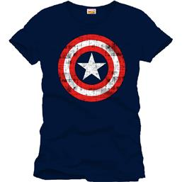 Captain America Shield T-Shirt Shield Navy