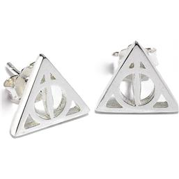 Harry Potter: Deathly Hallow Stift Øreringer (Sterling Sølv)