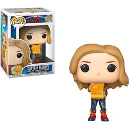 Captain Marvel w/Lunch Box GITD POP! Marvel Vinyl Bobble-Head Figur (#444)