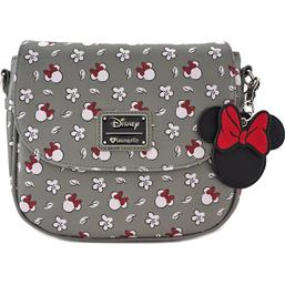 Minnie Head & Flower Print Taske Loungefly