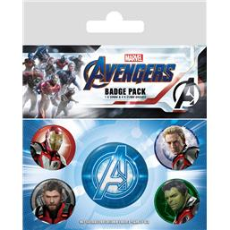 Endgame Quantum Realm Suits Badges 5-Pak