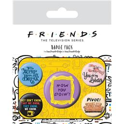 Friends Quotes Badges 5-Pak