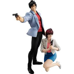 City Hunter: City Hunter Private Eyes G.E.M. Series PVC Statues Saeba Ryo & Makimura Kaori 17 - 25 cm