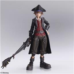 Kingdom Hearts III Bring Arts Action Figure Sora Pirates of the Caribbean Ver. 15 cm