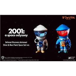2001: A Space Odyssey: 2001: A Space Odyssey Artist Defo-Real Series Soft Vinyl Figures DF Astronaut Silver & Blue Ver.
