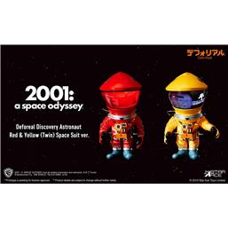 2001: A Space Odyssey: 2001: A Space Odyssey Artist Defo-Real Series Soft Vinyl Figures DF Astronaut Red & Yellow Ver.