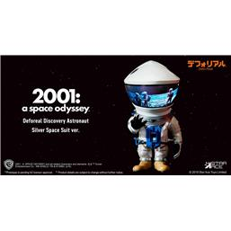 2001: A Space Odyssey Artist Defo-Real Series Soft Vinyl Figure DF Astronaut Silver Ver. 15 cm