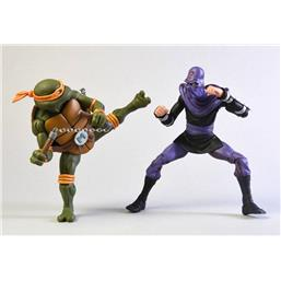 Teenage Mutant Ninja Turtles: Michelangelo vs Foot Soldier Action Figure 2-Pack 18 cm