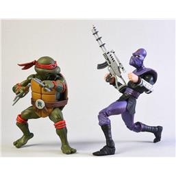 Teenage Mutant Ninja Turtles: Raphael vs Foot Soldier Action Figure 2-Pack 18 cm
