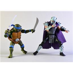 Teenage Mutant Ninja Turtles: Leonardo vs Shredder Action Figure 2-Pack 18 cm
