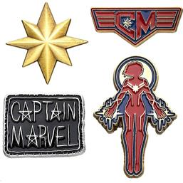Captain Marvel: Captain Marvel Pins 4-Pak