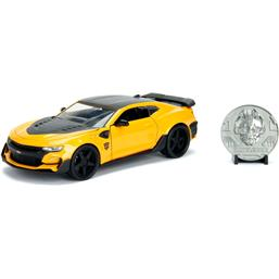 Transformers: Chevy Camaro Bumblebee with Collectible Coin Diecast Model 1/24