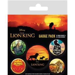 Life of a King Badges 5-Pak