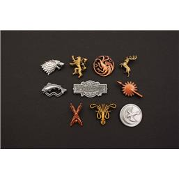 Game Of Thrones: Houses & Logo Badges 10-Pak