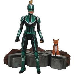 Captain Marvel: Captain Marvel Starforce Uniform Marvel Select Action Figure 18 cm