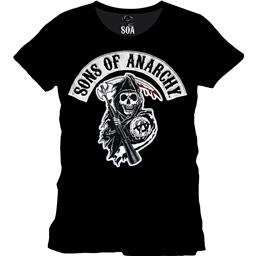 Sons Of Anarchy Reaper T-Shirt med hvid logo baggrund
