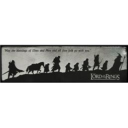 Lord Of The Rings: Fellowship Silhouette Læder Bogmærke