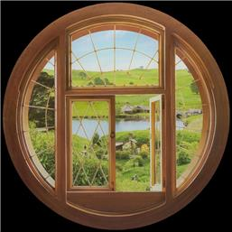Hobbit Window Giant Vinyl Wall Decal 70 cm