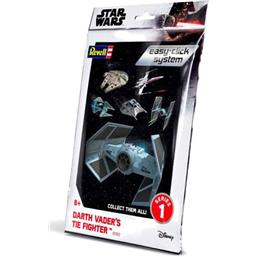 Darth Vader TIE Fighter Level 2 Easy-Click Snap Model Kit Series 1