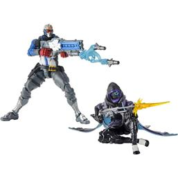 Ana and Soldier 76 Ultimates Action Figures 15 cm